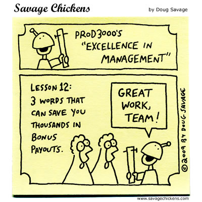 Savage Chickens - Excellence in Management 11