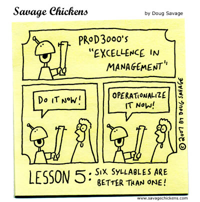 Savage Chickens - Excellence in Management 5