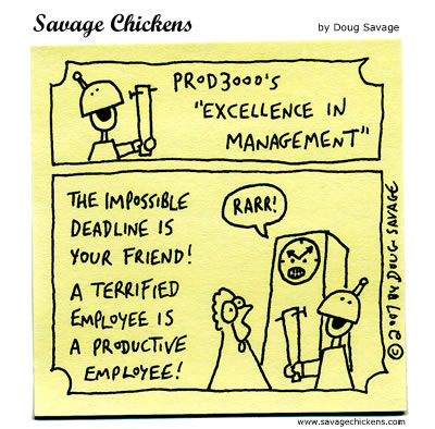 Savage Chickens - Excellence in Management 7