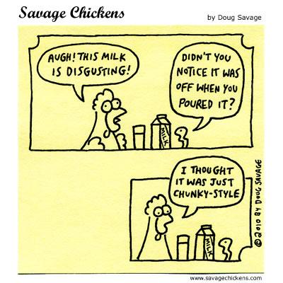 Savage Chickens - Milk