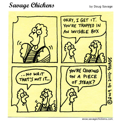 Mime Cartoon | Savage Chickens - Cartoons on Sticky Notes by