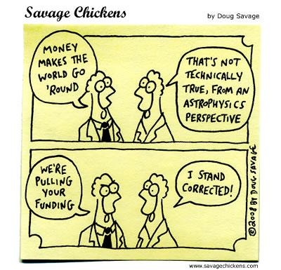 Savage Chickens - Money vs Science