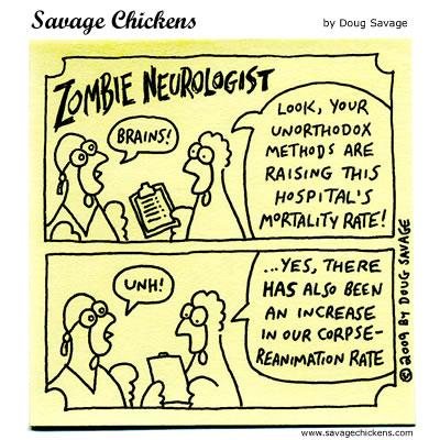 Savage Chickens - Zombie Neurologist