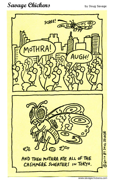 Savage Chickens - Mothra