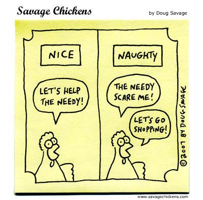 Savage Chickens - Naughty or Nice