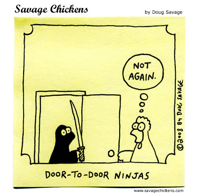 Savage Chickens - Unwelcome