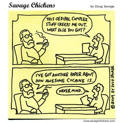 Savage Chickens - Freud's Editor