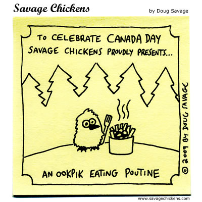 Savage Chickens - A Canadian Moment