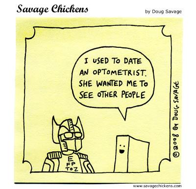 Savage Chickens - Optometrist