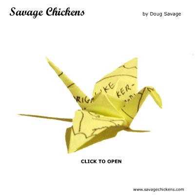 Savage Chickens - Origami