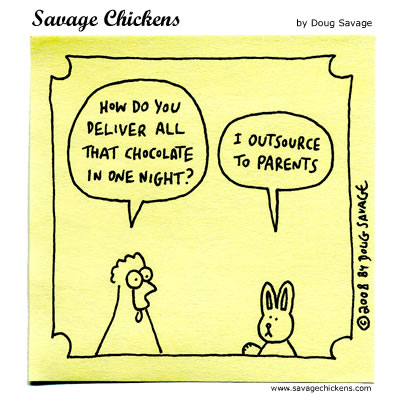 Savage Chickens - Easter