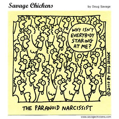Savage Chickens - Staring