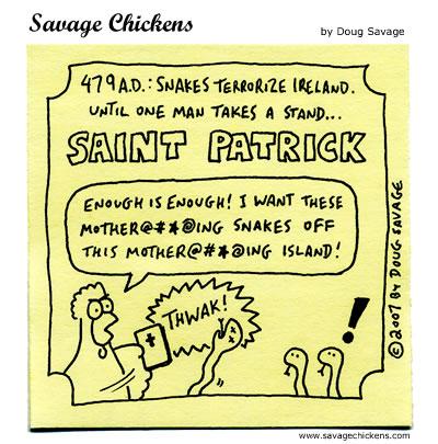 Savage Chickens - Saint Patrick