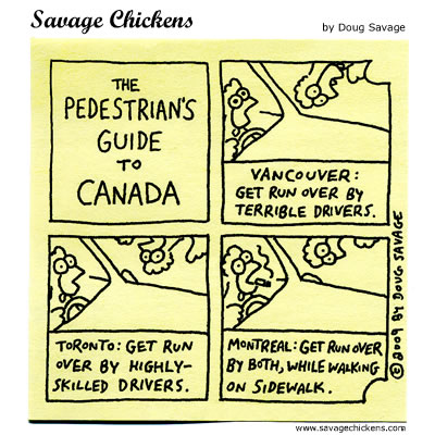Savage Chickens - Pedestrian's Guide to Canada