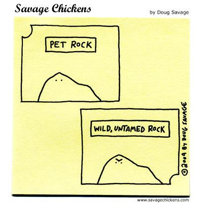 Savage Chickens - Rocks