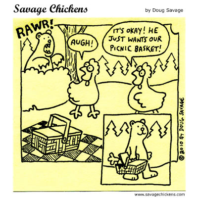 Savage Chickens - Picnic Basket