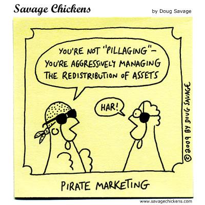 Savage Chickens - Pillaging