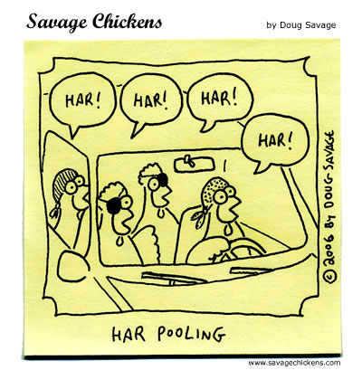 Savage Chickens - Morning Commute