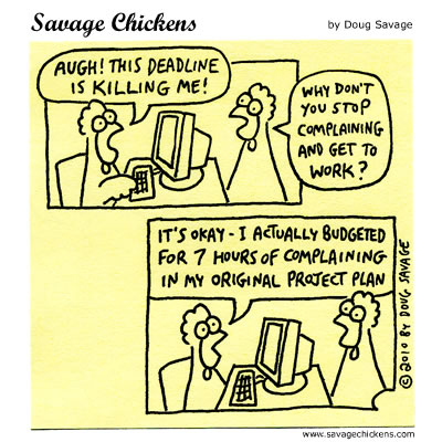 Savage Chickens - Planning Ahead