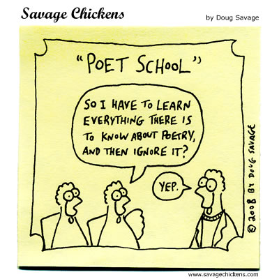 Savage Chickens - Poet School