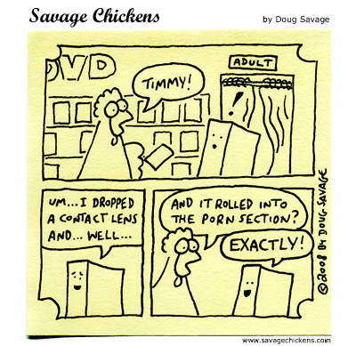 Savage Chickens - Caught!