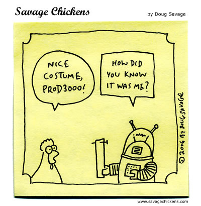 Savage Chickens - Robot Costume