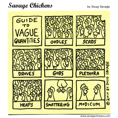 Savage Chickens - Quantities