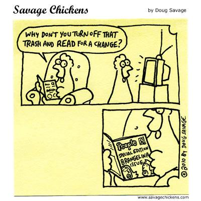Savage Chickens - Trash