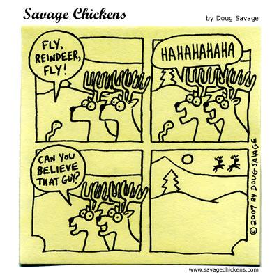 Savage Chickens - Real Reindeer