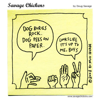 Savage Chickens - Rock Paper Scissors