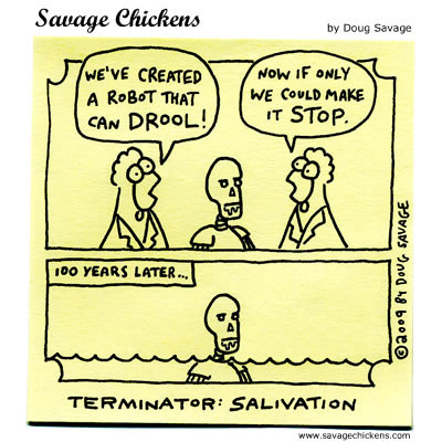 Savage Chickens - Trouble at Cyberdyne
