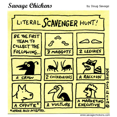 Savage Chickens - Scavenger Hunt