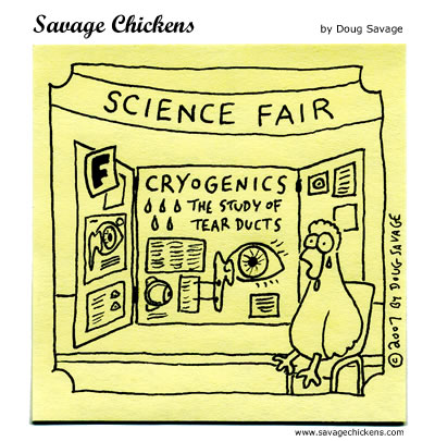 Savage Chickens - Science Fair