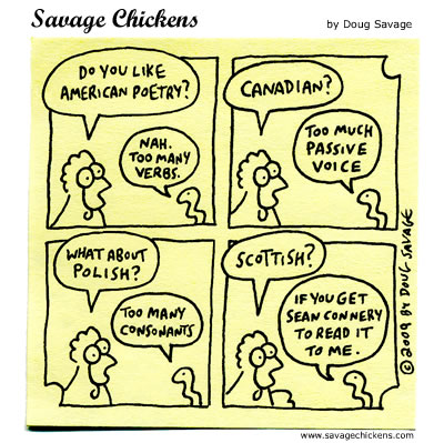 Savage Chickens - World of Poetry