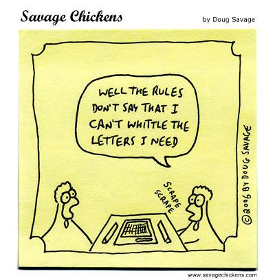 Savage Chickens - Scrabble