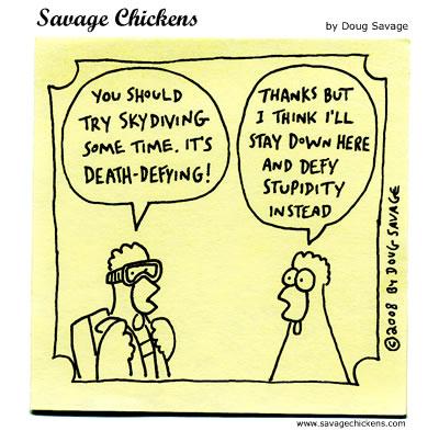 Savage Chickens - Skydiving