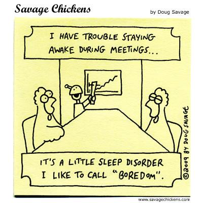 Savage Chickens - Sleep Disorder