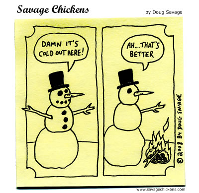 Savage Chickens - The Snowman
