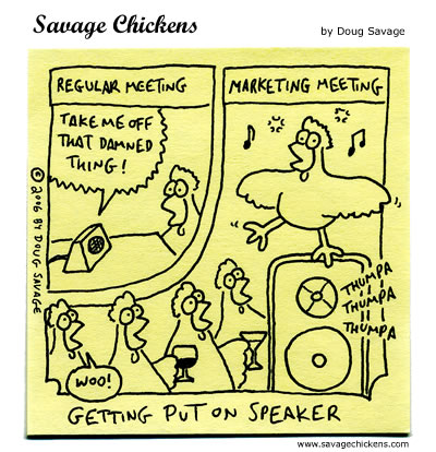 Savage Chickens - Meetings