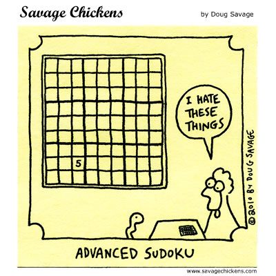 Savage Chickens - Challenging