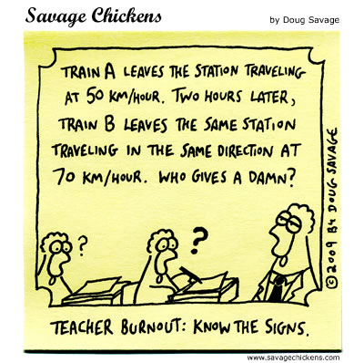 Savage Chickens - Teacher