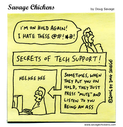 Savage Chickens - Tech Support