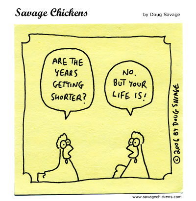 Savage Chickens - Time Flies
