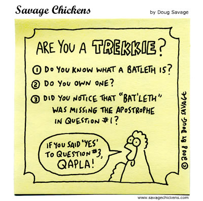 Savage Chickens - Trekkie