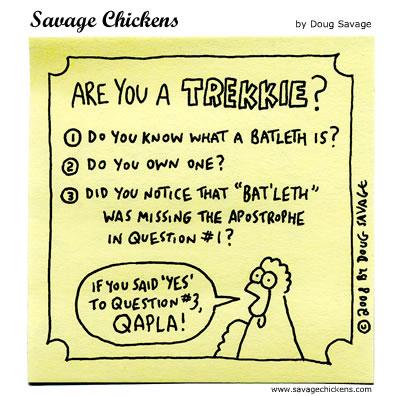 Savage Chickens - Trekkie