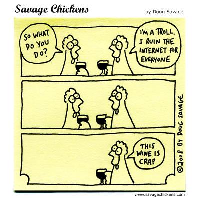Savage Chickens - Troll