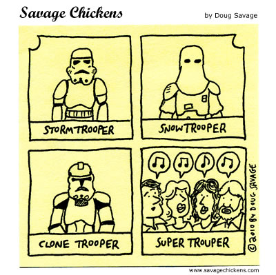 Savage Chickens - Troopers