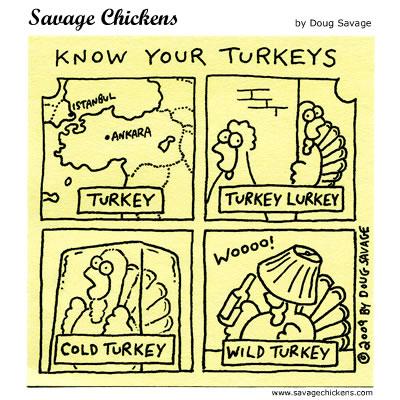 Savage Chickens - Know Your Turkeys