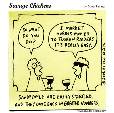 Savage Chickens - Overheard on Tatooine