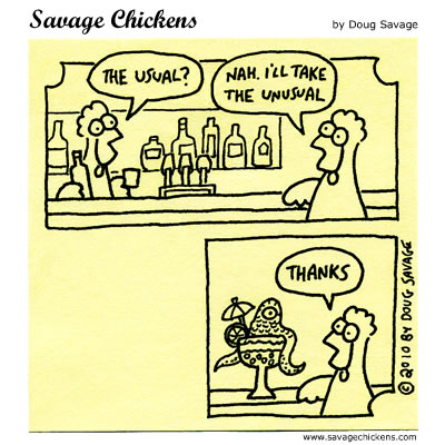 Savage Chickens - The Usual?
